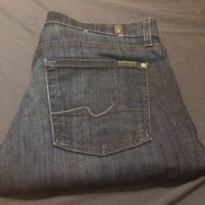 7 for all mankind standard blue jeans size 31 $169